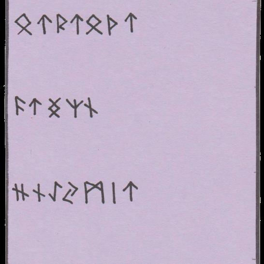 Código encriptado con runas